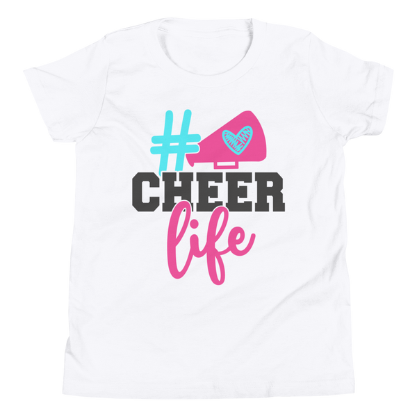 Cheer Life Shirt, Cheerleader Shirt, Cheerleading Shirt, Youth Short Sleeve T-Shirt