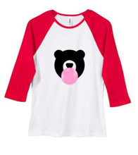 Load image into Gallery viewer, Kandy Teddy Ladies Baby Rib 3/4 Sleeve Tee