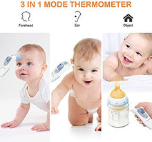 Load image into Gallery viewer, SMARTRO Ear and Forehead Thermometer for Fever, Digital Medical Infrared Thermometer for Baby, Infants, Kids and Adults CE and FDA Approved
