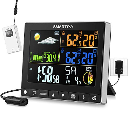 SMARTRO SC93 Weather Station Indoor Outdoor Thermometer