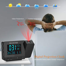 Load image into Gallery viewer, SMARTRO Digital Projection Alarm Clock with Weather Station