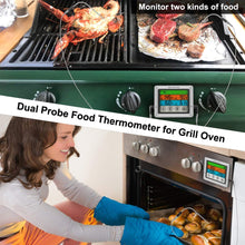 Load image into Gallery viewer, SMARTRO ST54 Dual Probe Digital Meat Thermometer for Food Cooking Kitchen Oven Smoker BBQ Grill with Timer Mode and Commercial-Grade Probes