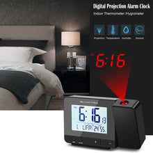 Load image into Gallery viewer, SMARTRO Projection Alarm Clock Digital Clock with Indoor Thermometer Hygrometer