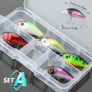 5/8/10pcs Mixed Colors Fishing Lure Set - campfiredeals