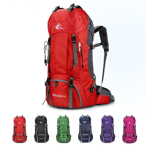 60L Waterproof Backpack With Rain Cover - campfiredeals