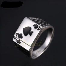 Load image into Gallery viewer, Black Enamel Spades Poker Ring - campfiredeals