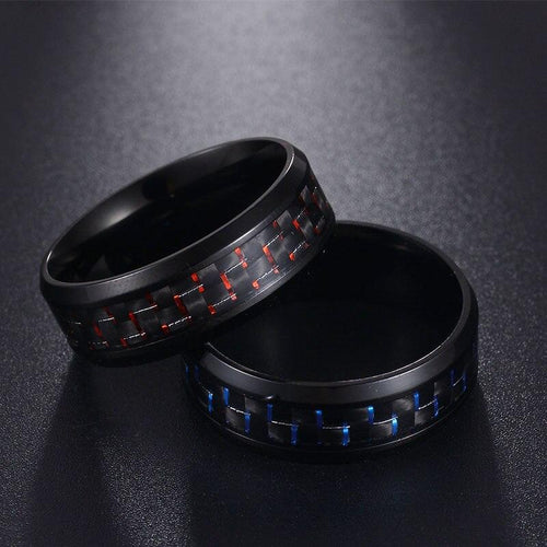 Black Carbon Fiber Rings - campfiredeals