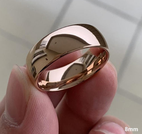 Classic Rose Gold Tungsten Wedding Ring - campfiredeals