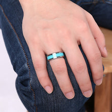 Load image into Gallery viewer, Classic Blue Turquoise Natural Stone Ring - campfiredeals