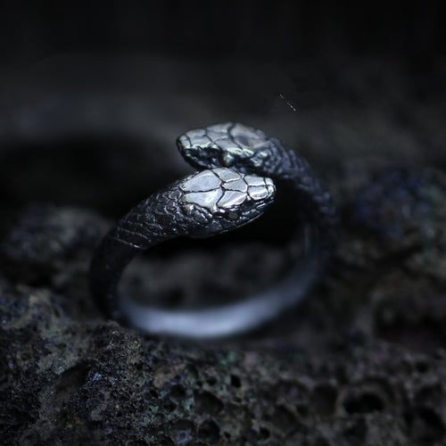 Double Snake Stainless Steel Ring - campfiredeals