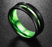 Load image into Gallery viewer, Tungsten Carbide (Green and Black) - campfiredeals