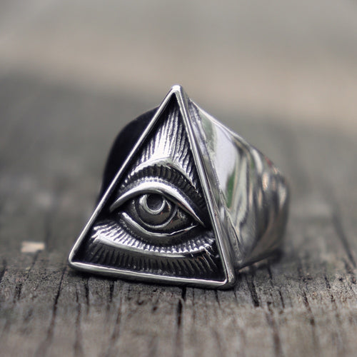 Eye of Providence Biker Ring - campfiredeals