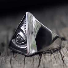 Load image into Gallery viewer, Eye of Providence Biker Ring - campfiredeals