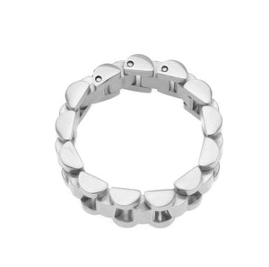 Stainless Steel Watchband Link Style Ring - campfiredeals