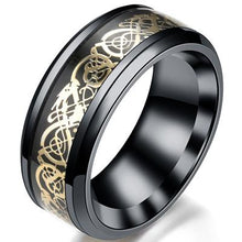 Load image into Gallery viewer, Titanium Steel Black Carbon Fiber Mens Rings - campfiredeals
