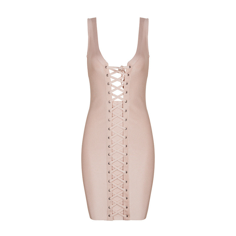 Arya Bodycon Lace Up Dress