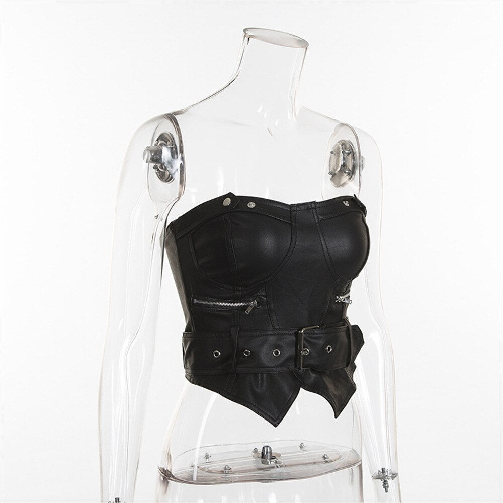 Xenon Leather Corset Top