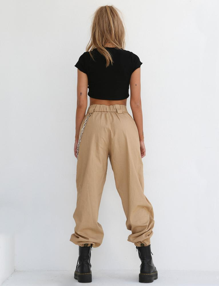 baggy tan cargo pants