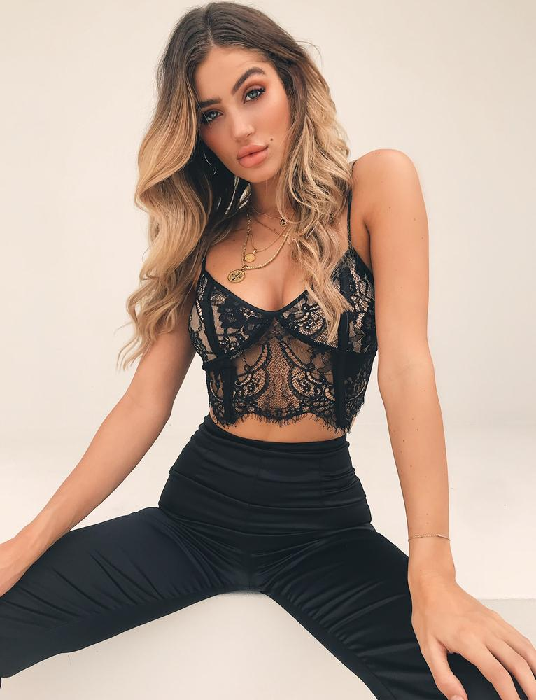 f9cbc982aee white lace bustier crop top. Riot Bae