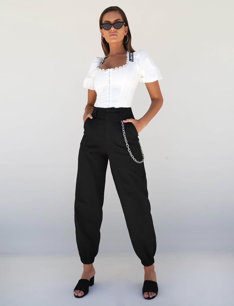 black womens cargo pants