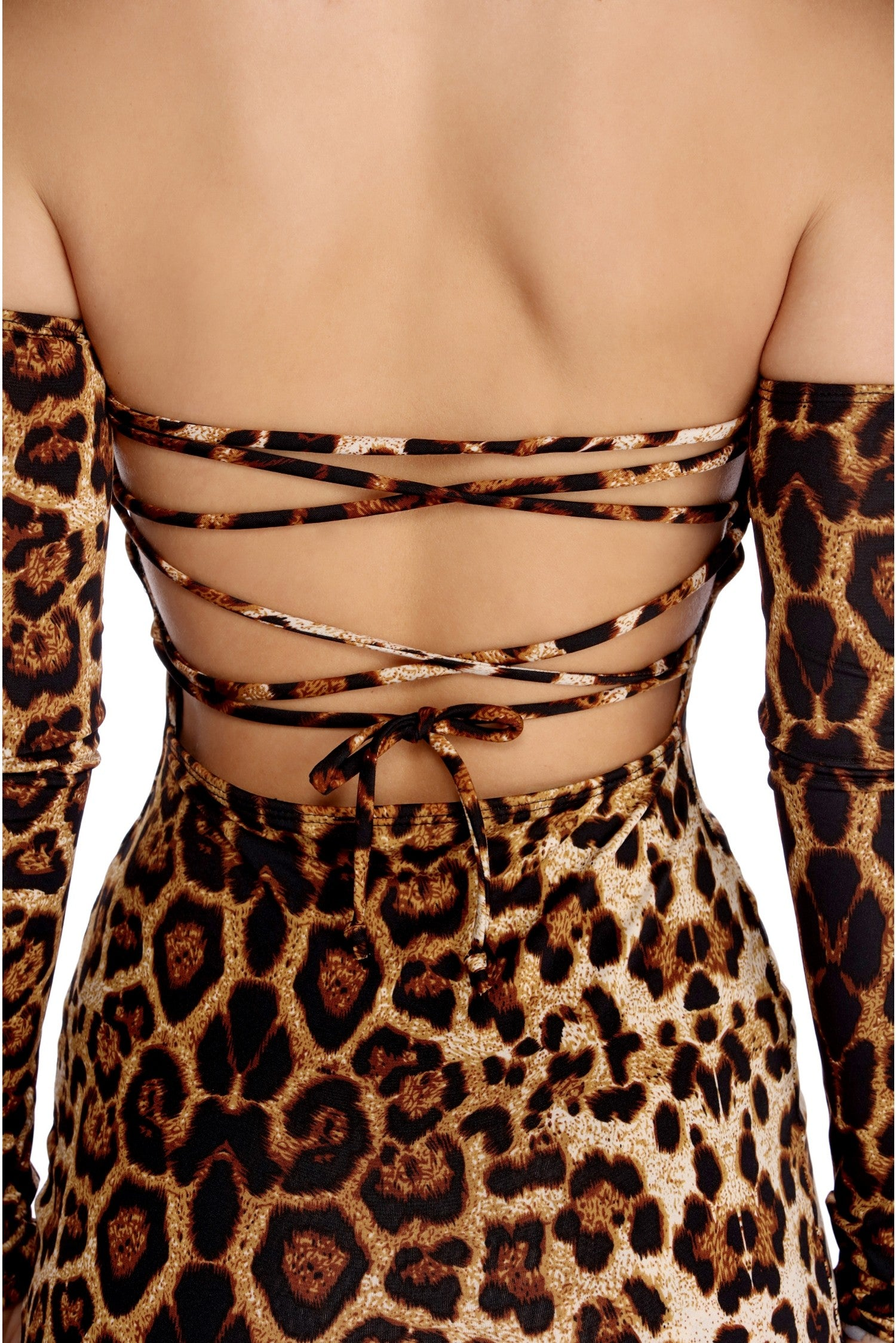 bodycon leopard print dress