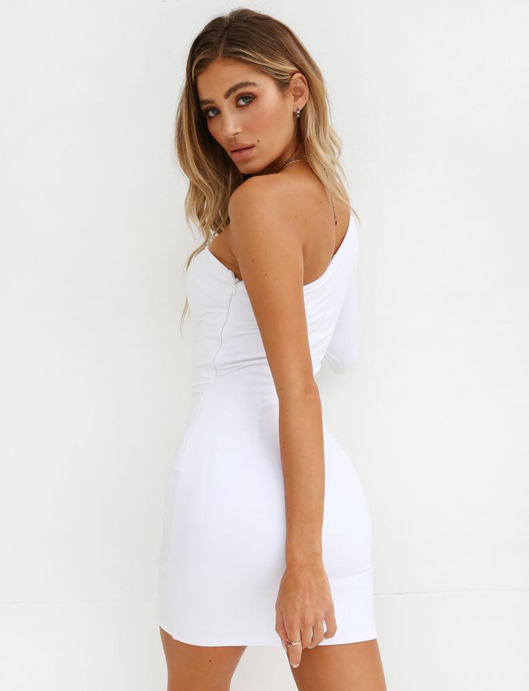 one shoulder asymmetrical dress