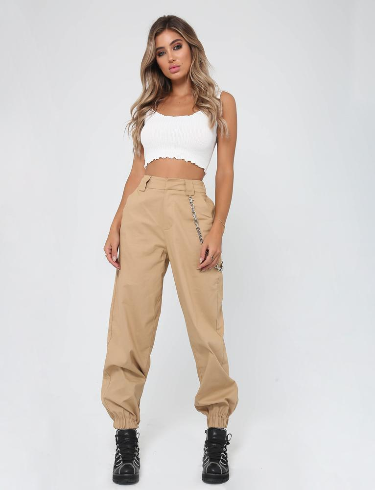 tan cargo pants for women