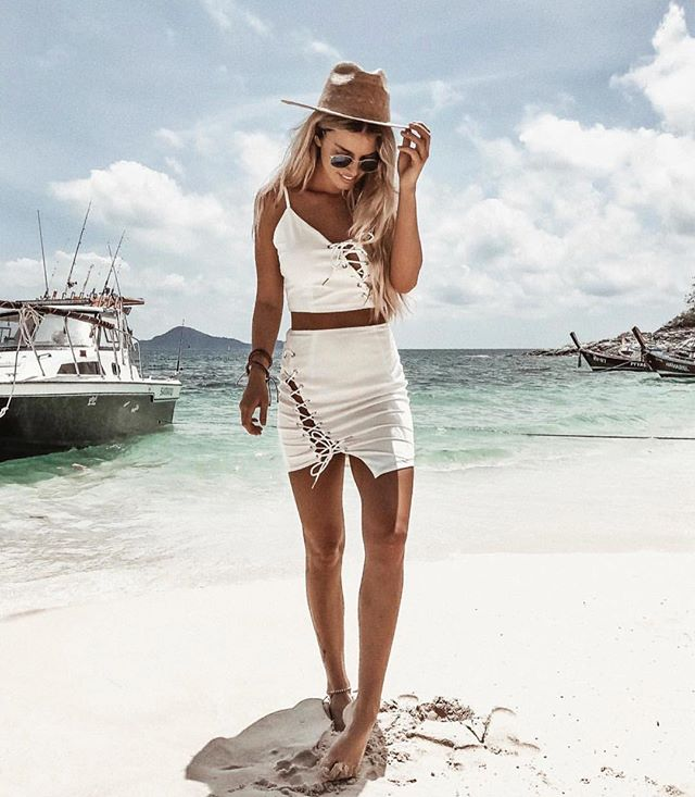 white co-ord dress