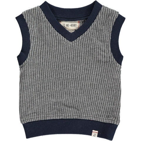 Baby Grey Knitted Sweater Vest