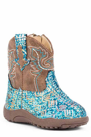 Glitter Aztec Cowbaby Boots
