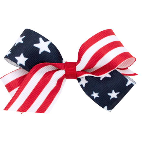 Medium Stars and Stripes Clip-on Bows