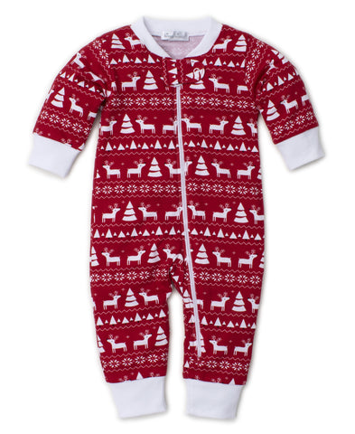 Christmas Deer Zipper Onesie