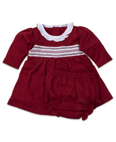 Christmas Holiday Smocked Dress Set