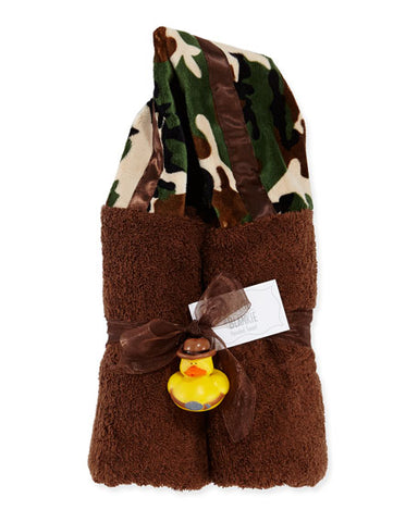 Brown Camouflage Hooded Towel