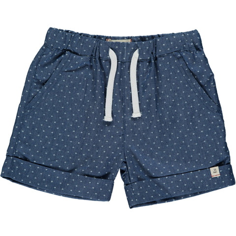 Arrow Chambray Shorts