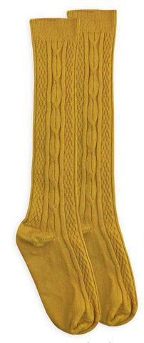 Mustard colored Knee-Hi Socks