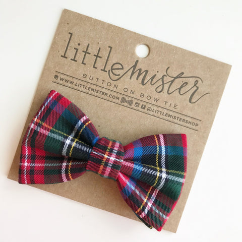 Bow Tie Red Plaid