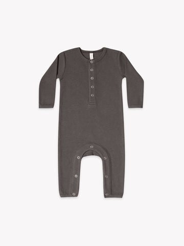 Coal Ribbed Baby Romper