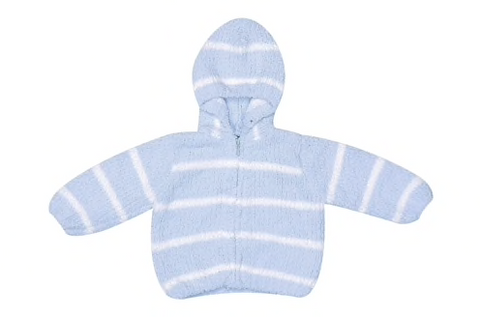 Blue and White Chenille Jacket