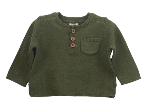 Olive Henley Sweater