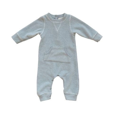 Alfie Romper in Plush Raincloud