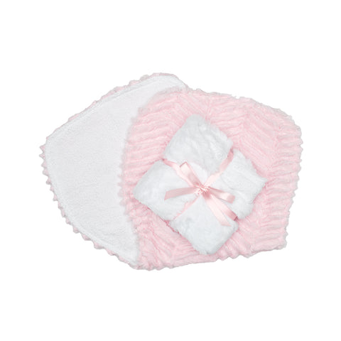 Burp Cloths Blush Logan