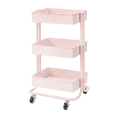 Cart Blush Metal Rolling