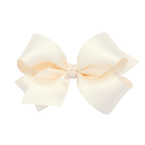 Clip-on Bows medium Classic French Satin