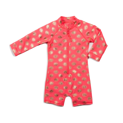 Hot Pink Sea Shells Shortall
