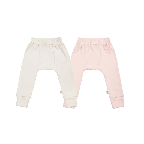 Ivory and Pink Basic Bottoms