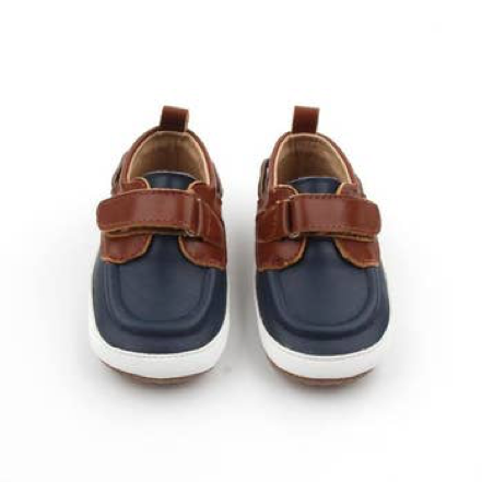 Navy and Brown Boat Shoes