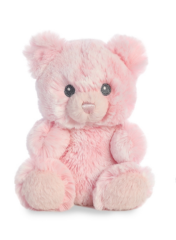 Lil Girl Bear Rattle Plush Animal