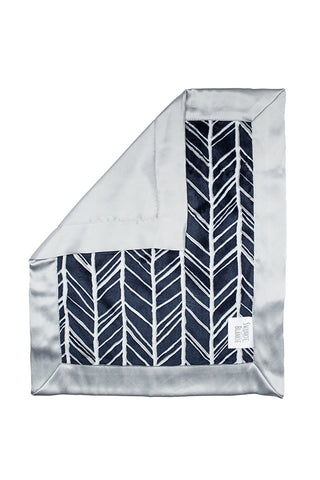 Navy Feather Security Blanket