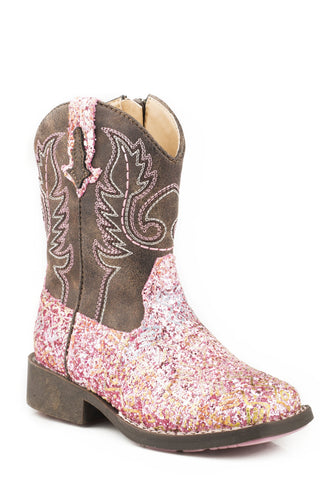 Toddlers Southwest Glitter Boots